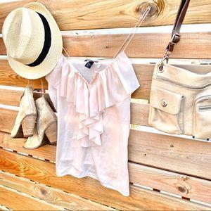 🤍BOHO summer tank/blouse with lots of ruffles